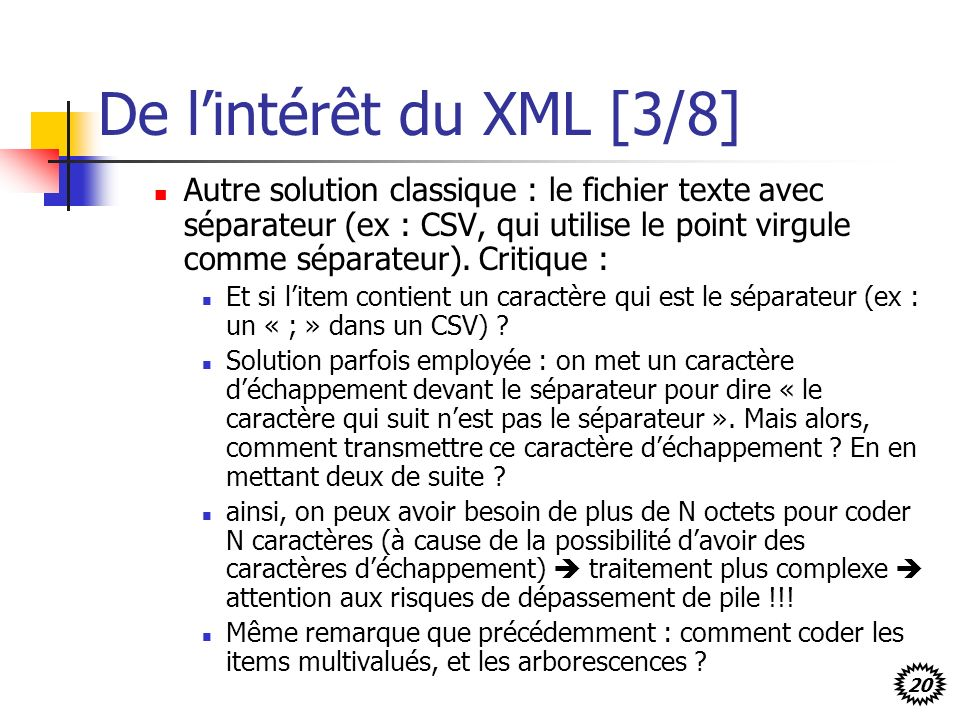 De l'intérêt du XML [3/8]